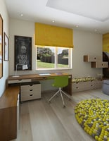 3D children room yellow romance