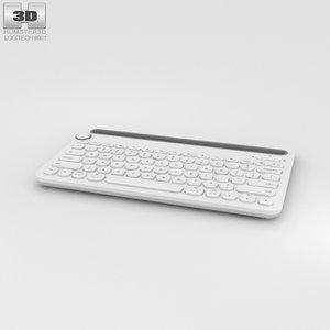 3D model logitech k480 white