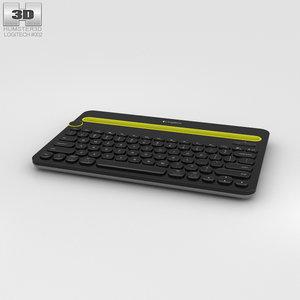 logitech k480 black 3D