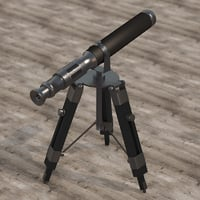 3D desktop telescope model