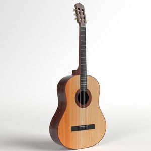 student classical guitar 3D