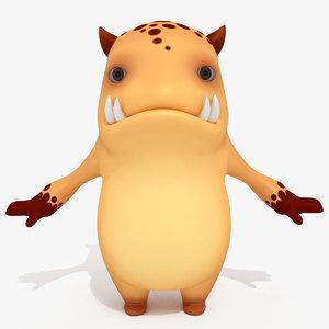3D monster cartoon sweetie