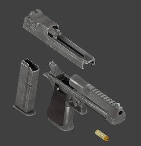3D pistol desert eagle model