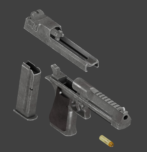3D pistol desert eagle model