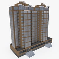 3D east europe building