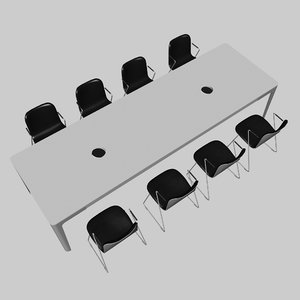 chairs conference table 3D