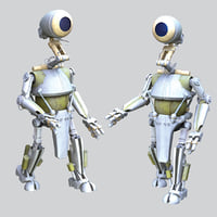3D pk-4 worker droid star wars