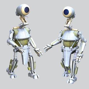 3D pk-4 worker droid star wars