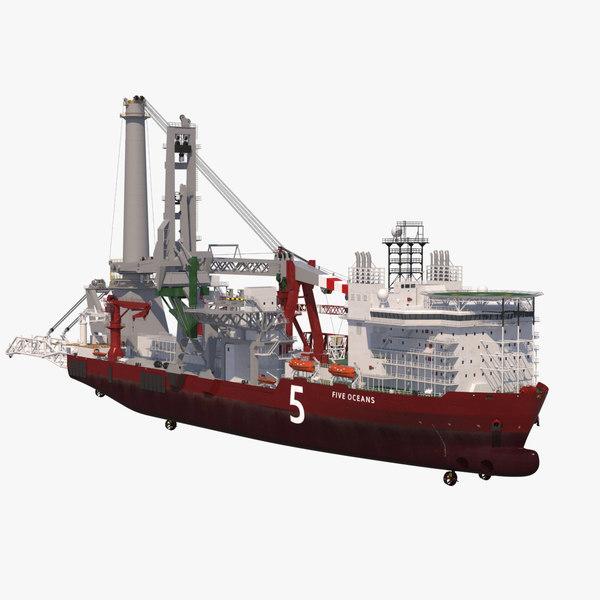 heavylift vessel 3D model