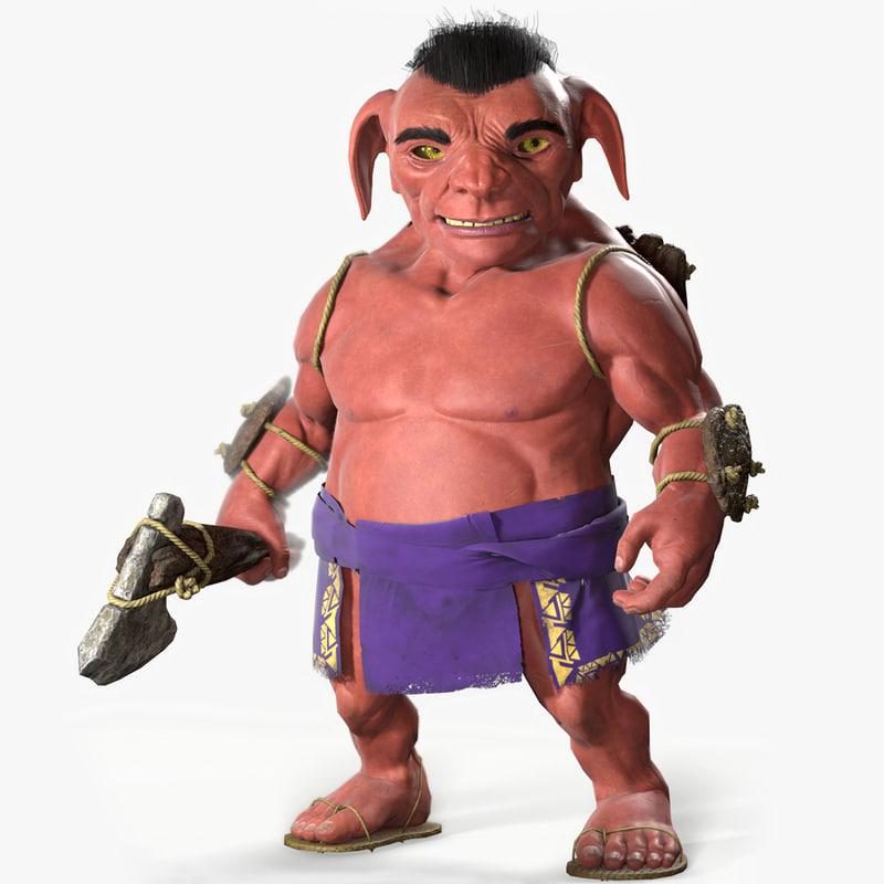 3D tribal goblin