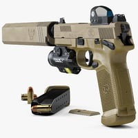 FN FNX-45 Tactical, Sight, Flashlight, Silencer