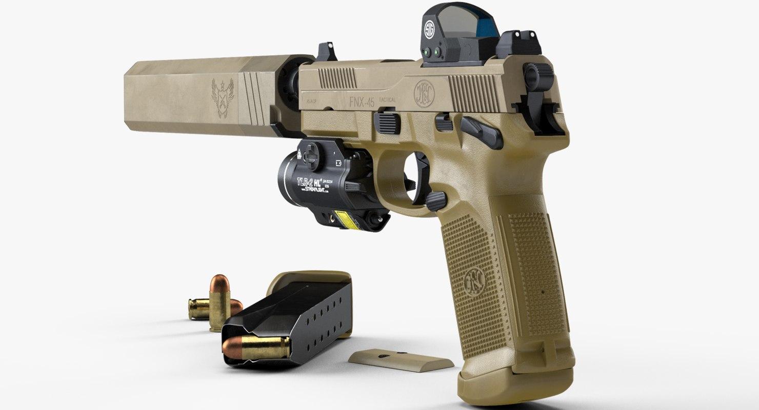 fn fnx-45 tactical sight 3D