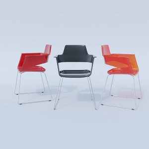 b32sled chair 3D model