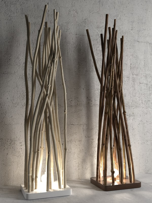 ramas marron floor lamp 3D
