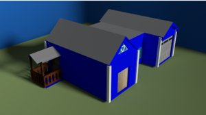3D house ready games model