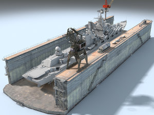 dry dock 3D model