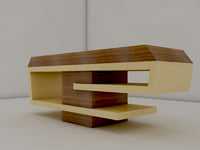 reception table counter 3D