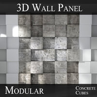 3D modular feature wall panels model