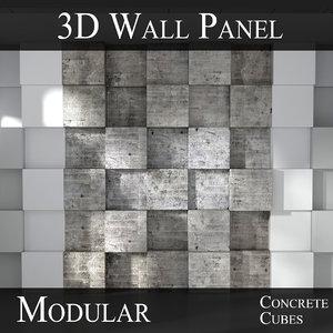 3D modular feature wall panels model