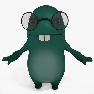 3D monster cartoon sweetie model