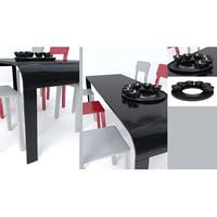 3D modern dining table model