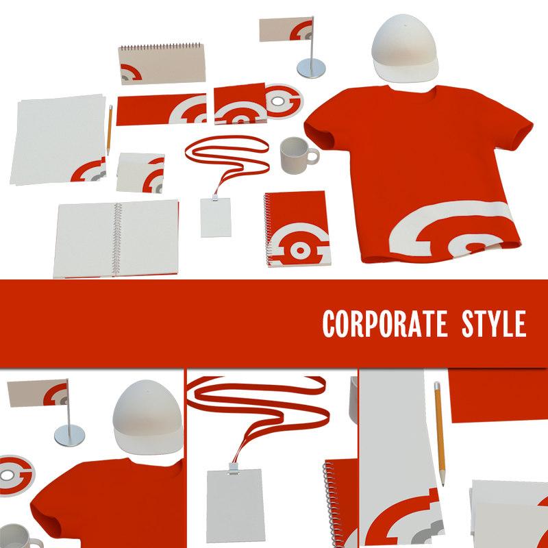 3D corporate style set