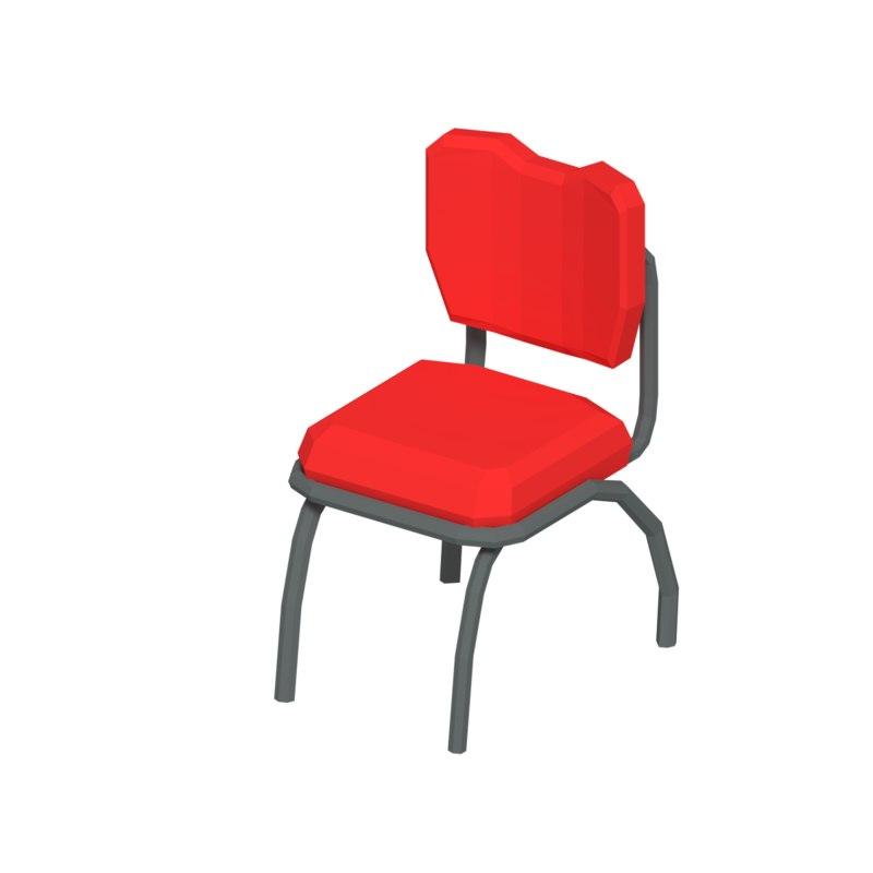 simple chair 3D model