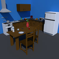Low Poly Kitchen Collection
