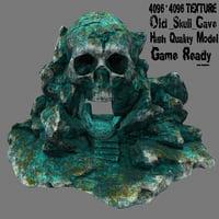 skull cave 3D model