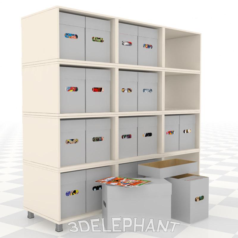 comic book boxes 3D model