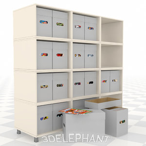 comic book boxes 3D model