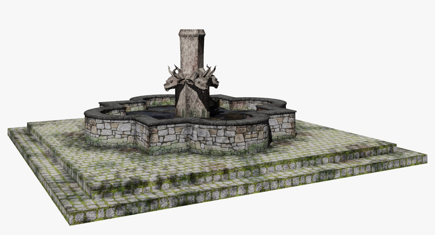 3D stone water fountain gargoyle