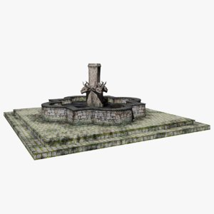 3D stone water fountain gargoyle