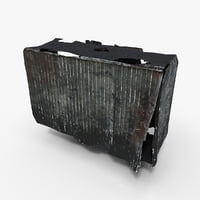 container damaged photoscan data 3D model