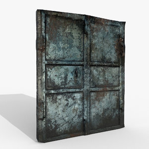 doors rusted v1 photoscan model