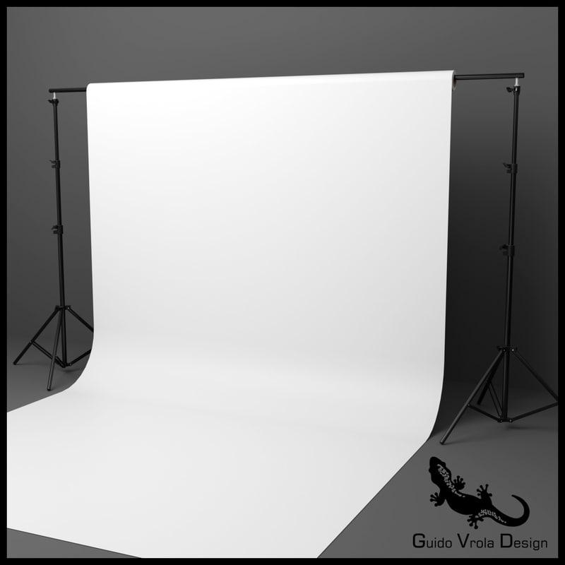 3D professional studio backdrop