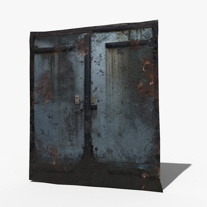 doors rusted v2 photoscan 3D model