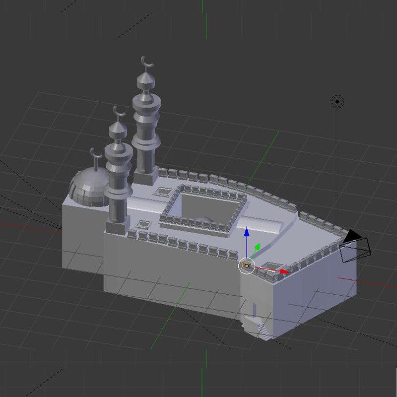 3D mosque sultan hassan model