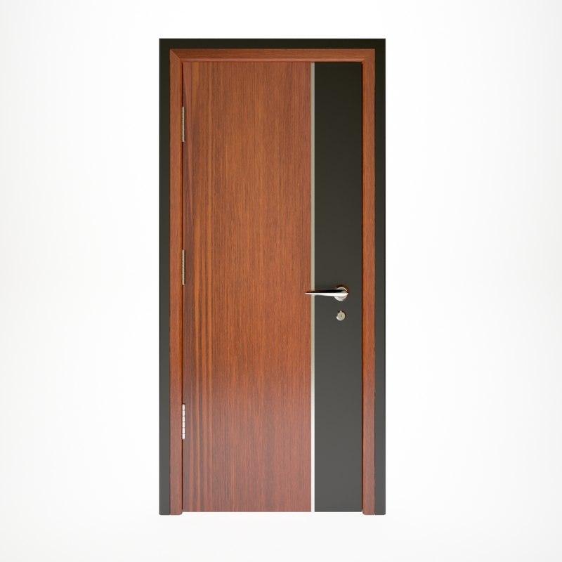 wooden door interior 3D model