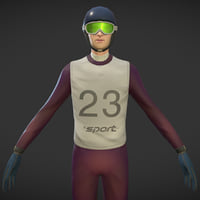 Ski jumper with animation