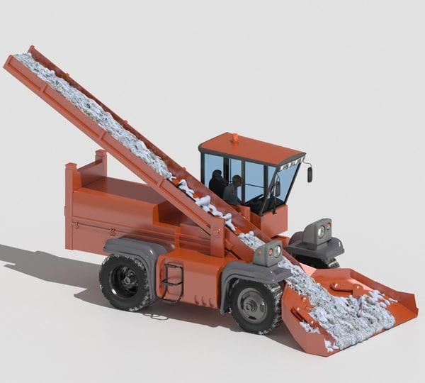 3D snowplow plow snow