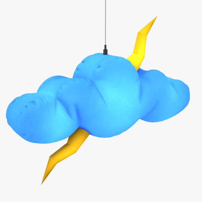 hanging inflatable cloud 3D model