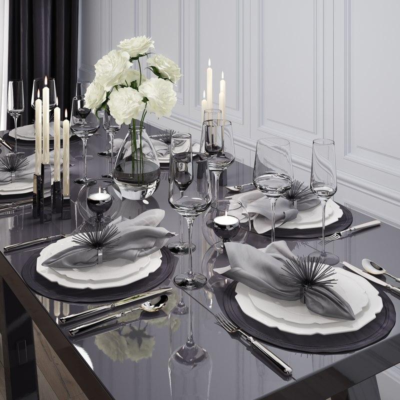 tableware table 3D model