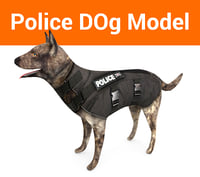 police german shepherd dog model