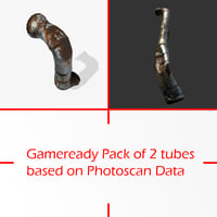 3D gameready pack tubes photoscan