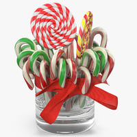 3D christmas candies 3