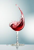 Glass from wine splash