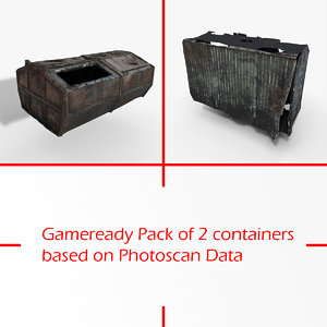 gameready pack containers photoscan model