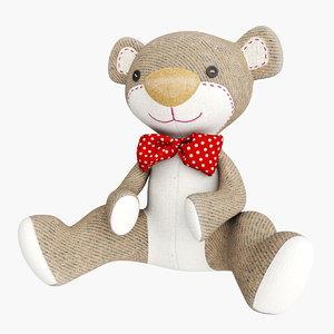 3D model teddy plush bear