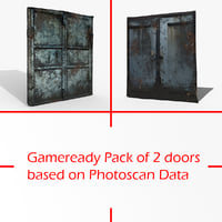 gameready pack doors photoscan 3D model